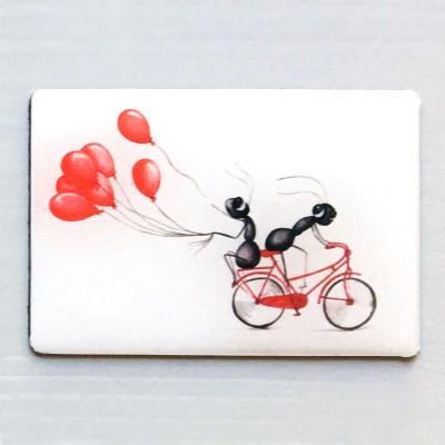 imán globo bici