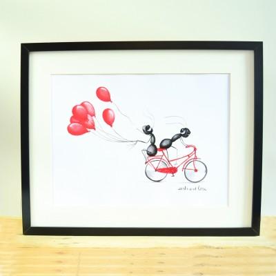 print globo bici