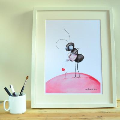 print hormiga regando