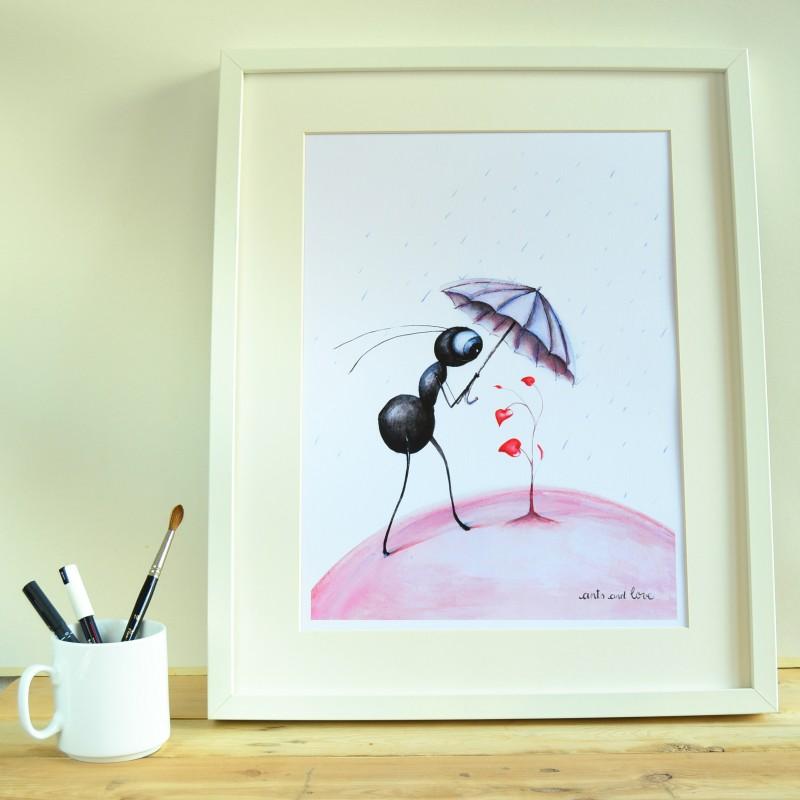 print hormiga paraguas