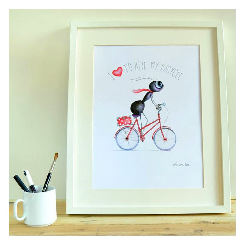 print i love to ride
