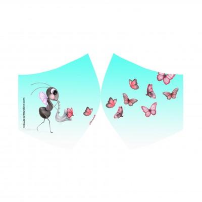 mascarilla mariposa cielo
