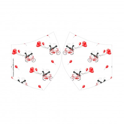 face mask bici globos