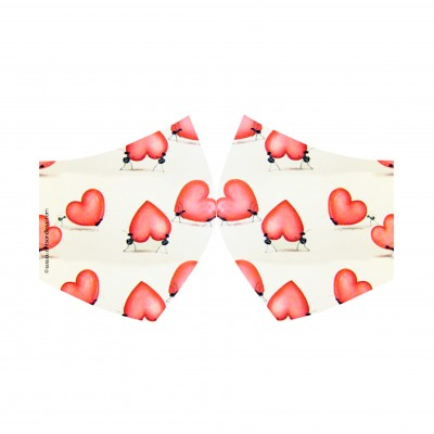 face mask corazones
