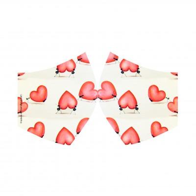 mascarilla corazones
