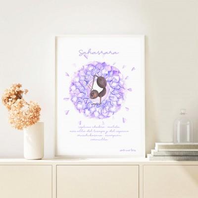print seventh chakra