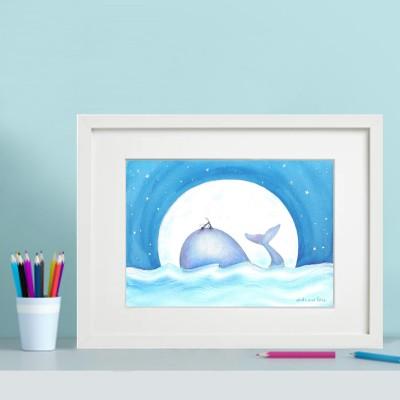 print ballena de amor