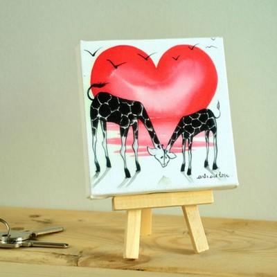 canvas jirafa duo
