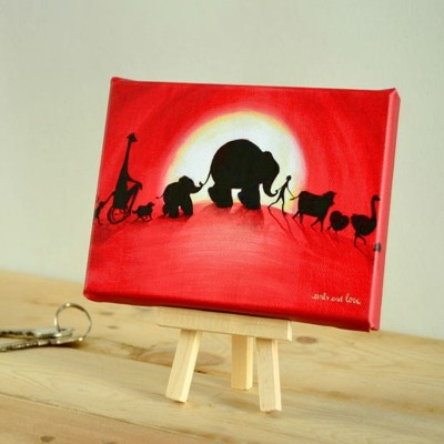 canvas animales