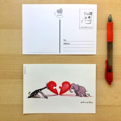 Postcard Mitades
