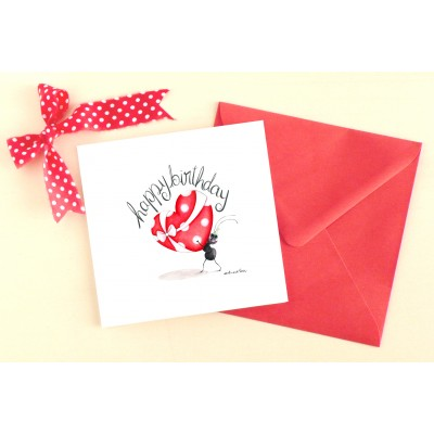 Greeting card Happy Birthday english